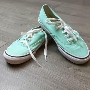 Vans Mint colored shoes